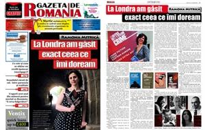 Picture of Ramona Mitrica - Interview in Gazeta de Romania newspaper