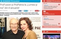 """Picture of Despre promovare culturala in Marea Britanie, la emisiunea """"Lumea si noi"""" pe TVR International"""